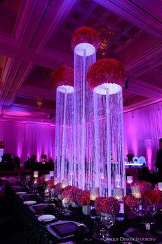 Crystal Column Centerpiece » Dream Design Lighting & Décor