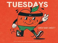 Gettin' Through The Week (A PSA) by Lauren Allik on Dribbble Work Week, Typography Design, Nostalgia, Survival, Store, Illustration, Modern, Art, Art Background
