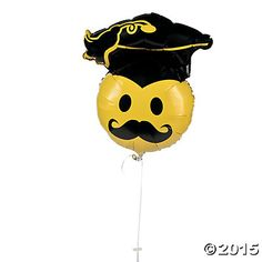 When you want something different than a smile face balloon for graduation party decorations, reach for this oversized Graduation Mustache Mylar ballo. Graduation Balloons, Graduation Party Decor, Graduation 2015, Graduation Ideas, Giant Balloons, Mylar Balloons, Balloon Ribbon, Oriental Trading, Smile Face