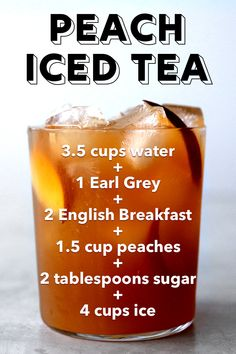 Peach Iced Tea from Scratch - Peach Iced Tea with Earl Grey & English Breakfast La mejor imagen sobre breakfast coffee para tu gu - English Breakfast Tea, Breakfast Desayunos, Breakfast Ideas, English Tea Cups, Refreshing Drinks, Summer Drinks, Iced Tea Maker, Drink Recipe Book, Iced Tea Recipes