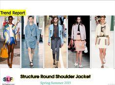 Structure Round Shoulder Boxy Jacket Trend for Spring Summer 2015. Dsquared², Jason Wu, Fendi, Miu Miu, and Carolina HerreraSpring Summer 2015. #Fashion #SS2015 #SS15