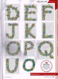 ru / Photo # 37 - The world of cross stitching 196 + app Christmas Charts - tymannost 123 Cross Stitch, Cross Stitch Quotes, Cross Stitch Letters, Cross Stitch Needles, Beaded Cross Stitch, Cross Stitch Charts, Cross Stitch Embroidery, Christmas Cross Stitch Alphabet, Cross Stitch Christmas Ornaments