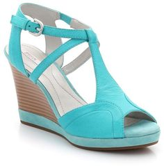 Geox Leather Wedge Sandals on shopstyle.co.uk