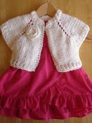 Image result for free knitting patterns for toddlers bolero 8 ply
