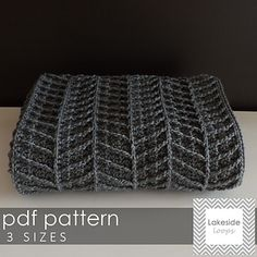 Modern, thick, and cozy . . this chevron crochet blanket pattern includes 3 sizes to make the perfect stroller blanket, crib blanket, or afghan. This easy to read pattern includes right hand & left hand instructions, pictures, chart, and a even video tutorial link.