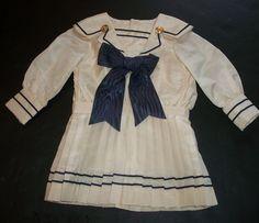 Sweet Mariner Doll Dress from joysofyesterday on Ruby Lane
