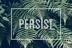 Free Desktop Wallpapers | Persist #wallpaper #desktop #free #graphicdesign #ferns #persist #motivational #minimalistic #simply #minimal #simplistic #basic #graphicdesign #typography