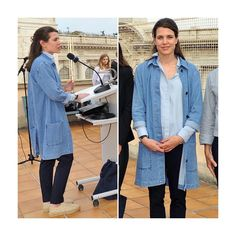 Professor Charlotte Casiraghi ! Daughter of Princess Caroline of Monaco hosted philosophy symposium in Monte-Carlo. We want a jeans coat like Prof. Casiraghi! #smartandbeautiful // Gouvernement Monaco/Twitter, June/08/2016