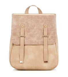 c8a9ea4fd909 Mink (Brown) Mink Metal Tip Croc Panel Backpack