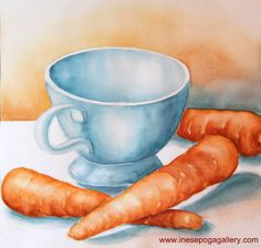 Adding background to simple watercolor still life Easy Still Life Drawing, Still Life Sketch, Painting Still Life, Tea Illustration, Illustrations, Kids Watercolor, Simple Watercolor, Watercolor Paintings, Painting Lessons