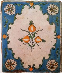 Печной изразец. Калуга. Начало XIX века