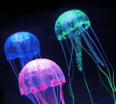 Decorations Pet Products Fish Tank Glowing Artificial Jellyfishes Silicone Simulated Aquatic Plants Fluorescent Vivid Jellyfish Aquarium Decor Clear-Cut Texture