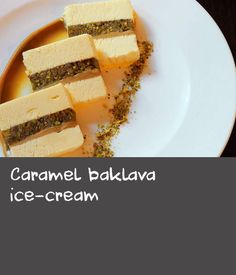 Baklava is a popular Greek and Middle Eastern sweet pastry dish, made with layers of crisp filo pastry and lots of chopped nuts. Here, it's built into a rich caramel ice-cream dessert. Dishes Recipes, Pastry Recipes, Rice Recipes, Greek Dishes, Rice Dishes, Food Dishes, Pastry Dishes, Caramel Ice Cream, Middle Eastern Dishes