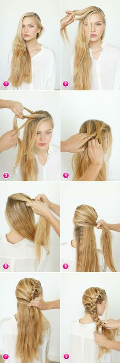 Go braid-crazy There are a lot of different gorgeous braid ideas. Some of them are pretty easy to do yourself and all you need is just to choose one of the variety of do-it-yourself videos online and try it. Bet you can't resist this hairdo for very long! It's a fabulous look not unlike a ponytail but with a more chic, polished look. Here's the top 7 trendist glam braid ideas for your next great hair look!
