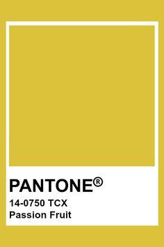 PANTONE 14-0750 TCX Passion Fruit #pantone #color Pantone Color Chart, Pantone Colour Palettes, Pantone Tcx, Yellow Pantone, Color Schemes, Color Combinations, Instagram Design, Colour Board, Color Swatches