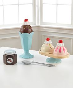 Love this Ice Cream Play Set on #zulily! #zulilyfinds