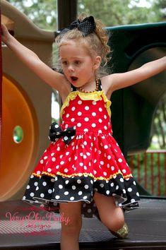 Minnie Mouse Dress Minnie Dress Baby Girls Dress Little Baby Girl Birthday Dress, Birthday Dresses, Cream Party Dresses, Dress Party, Minnie Dress, Dresses Kids Girl, Baby Dresses, Kids Girls, Baby Girls