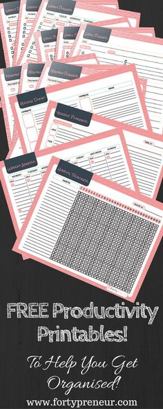 FREE Productivity Planners Printables, For All Those Procrastinators! Yours to dow Free Planner, Planner Pages, Happy Planner, Free Printable Planner, Essay Planner, Pink Planner, 2015 Planner, Blog Planner, Weekly Planner