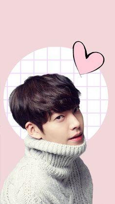 Kim Woo Bin being cute! Kim Woo Bin, Korean Actresses, Asian Actors, Korean Actors, Weightlifting Fairy Kim Bok Joo Wallpapers, Korean Tv Series, K Drama, Uncontrollably Fond, Seo Joon