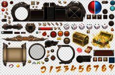游戏美术资源 设计素材 传奇类 中国风界面UIICON图标背景png透明-淘宝网