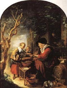 Gerrit Dou The Fritter Seller