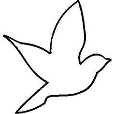 Раскраски Контуры птиц птица трафарет для вырезания из бумаги