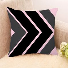 Sephora Black And Grey Stripes Cushion Cover