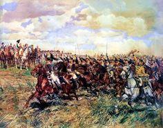 Napoleón saludando al 12º de Coraceros que se lanza a la carga, cuadro de Messonier. Más en www.elgrancapitan.org/foro