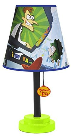 Disney RK317660 Phineas and Ferb Die Cut Table Lamp ** Continue to the product at the image link. (This is an affiliate link and I receive a commission for the sales)