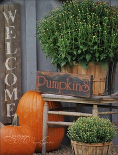 Love the Pumpkin sign!