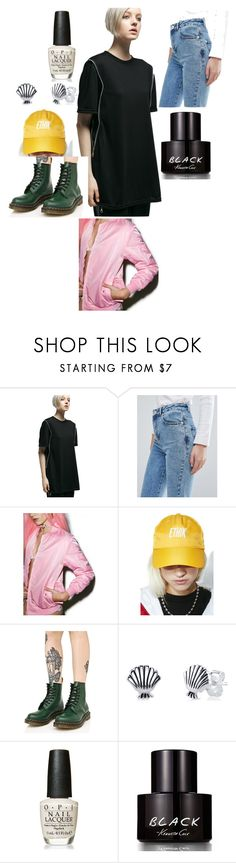 """."" by laura-lorena-forever ❤ liked on Polyvore featuring MNML, Miss Selfridge, Petals and Peacocks, ETHIK, Dr. Martens, Disney, OPI and Kenneth Cole"