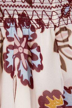 Tory Burch - Indie Off-the-shoulder Printed Silk-georgette Top - Ivory - US