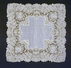 Handkerchief  Belgium, Brussels  late 19th to early 20th century