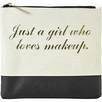 Tartan + Twine Just a Girl Who Loves Makeup Gold Printed Travel Makeup Flat Clutch Daily Makeup, Love Makeup, Makeup Tips, Beauty Makeup, Beautiful Mind, Beautiful Words, I Will Always Love You Quotes, Self Tanning Spray, Mottos To Live By