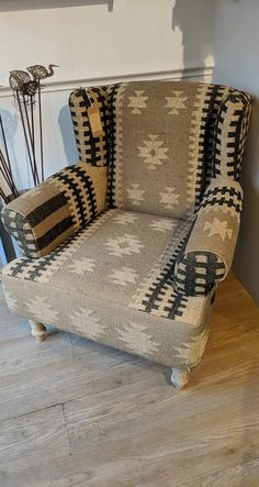 Creted for restored kilim Restoration, Armchair, Kitchen, House, Furniture, Home Decor, Sofa Chair, Single Sofa, Cooking