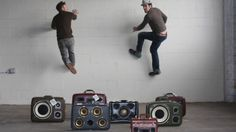 Brothers Ezra and Alex Cimino-Hurt marry classic electronics with vintage luggage to produce stunning, hand-built, one-of-a-kind Case of Bass portable sound systems