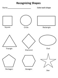6 Best Images of Preschool Printables Shapes - Free Printable Preschool Worksheets Shapes, Printable Shapes Worksheets Kindergarten and Free Printable Preschool Worksheets Shape Worksheets For Preschool, Shapes Worksheet Kindergarten, Toddler Worksheets, Shapes Worksheets, Tracing Worksheets, Free Printable Worksheets, Free Preschool, Preschool Printables, Preschool Kindergarten