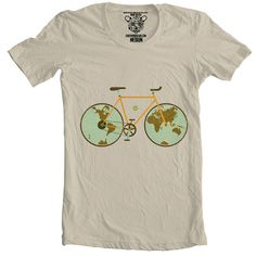 World Traveller Bicycle T-shirt -- stocking stuffers for men Christmas gift ideas.jpg