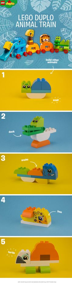 The LEGO DUPLO Animal Train is a great creative construction toy for toddlers - and an awesome way to learn about animals. Build the cool creatures from the box, then have fun together and see how many different combined animals you can create. Why not turn the giraffe into a bee, or make the crocodile into a duck? Click to buy the set. Click to buy the set