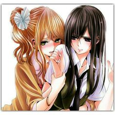 I wonder if they will ever make a season 2 of the anime but for now Im very happy with the beautiful manga of citrus . Cute Lesbian Couples, Lesbian Art, Lesbian Love, Manga Yuri, Yuri Anime, Manga Anime, Anime Art, Citrus Anime, Sasameki Koto
