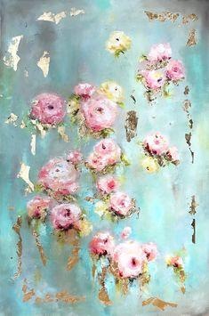 Ideas Vintage Flower Art Paintings Floral For 2019 Arte Popular, Leaf Art, Fine Art Gallery, Painting Gallery, Flower Art, Art Flowers, Paper Flowers, Painting Flowers, Contemporary Paintings