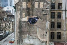 Streetart JR in Berlin – Wrinkles of the City 6