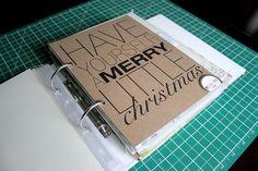 Simple #christmas #album #scrapbook #cover