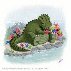 Little 'Zilla's Wish by Boogervampire13.deviantart.com on @DeviantArt