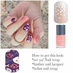 Jamberry See ya! is too cute!! My favorite Bellini wrap is a perfect companion. Fanfare nail lacquer is perfect for this combination.