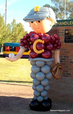 baseball balloon centerpieces images | Baseball Balloon Decorations |