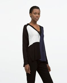 Image 2 of COLOR BLOCK SHIRT from Zara