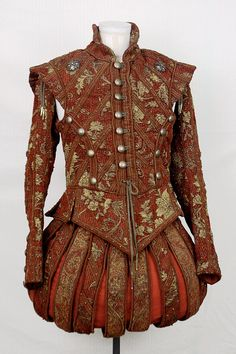 Red + Gold Renaissance Doublet Final by =paedess on deviantART