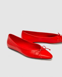 5038745dba69 LEATHER BALLERINAS-Leather-SHOES-WOMAN | ZARA United States Leather Ballet  Flats,