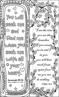 8 Bible Verse Coloring Bookmarks #ricldp